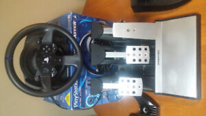 Thrustmaster T300RS Racing Wheel and Fanatec Pedals