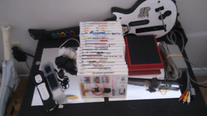Wii mini , games and Guitar