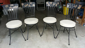 NEW PRICE > Wrought Iron Patio Chair - set of 4 - EXCELLENT Cond
