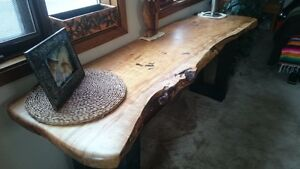 Live Edge and Reclaimed Wood Dining,Hall, Console, End Tables