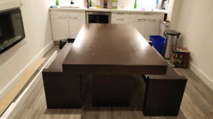 West Elm Dining table with bench