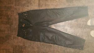 Pantalon cuir Harley Davidson