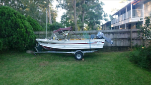 quintrex runabout boat with yamaha 30hp motor