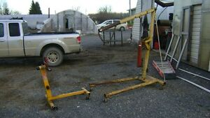HYDRAULIC ENGINE HOIST CHERRY PICKER WITH REBUILD STAND $350