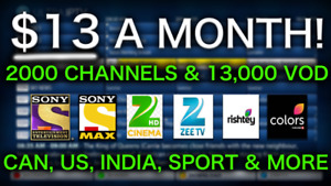 2000+ IPTV WITH 100% BEST INDIAN TV+IPL MOVIES $13 A MONTH