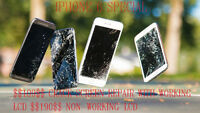 $69 IPHONE 5/5C/5S CRACKED SCREEN/LCD REPAIR 587-501-2273