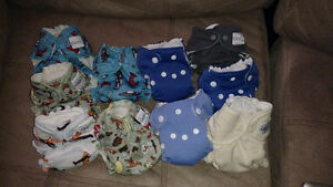 9 newborn cloth diapers