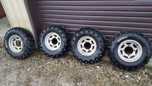 "Polaris Sportsman 12"" ITP Rims with Bear Claw Tires"