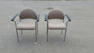 Chairs IKEA grey fabric and black arms 2 available