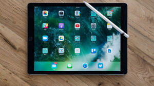 iPad Pro, 12.9', 2nd Gen (2017) With Apple Case + Pencil