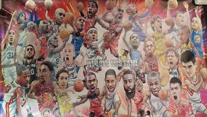 Funny NBA Mini Poster: LeBron, Durant, Jordan, Curry, Harden