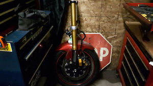 2008 R6 front fork assembly