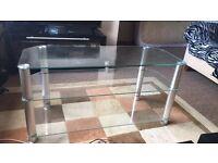 3 shelf glass table