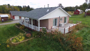 198 acres with updated home new garage and barn