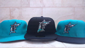 Casquette Florida Marlins retro hat lot de 3