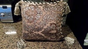 Gold tassel small cushion - high end from Chinz and Company..