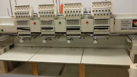 4 head Embroidery Machine with attachments and Computer