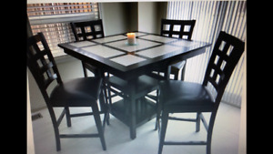Two 5 piece dining sets