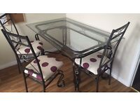 Cheap glass table and chairs