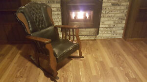 Cozy vintage rocking chair