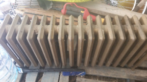 "Heaters.     Hot water base board 4' long  x 8 ""w"