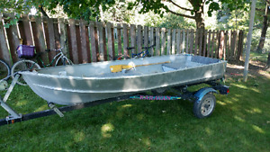 12 foot aluminum boat & trailer package
