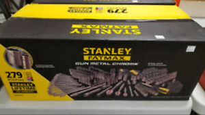 Stanley FatMax Gun Metal 279 Piece Chrome Socket Set