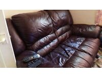 2 seat Leather sofa / couch