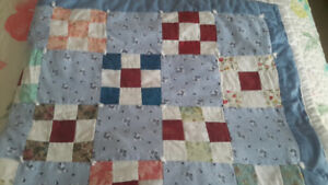 Lap Quilt or Crib Quilt Hand Crafted Patchwork