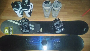 Multiple Snowboard Items
