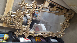 Mirror with glamour frame