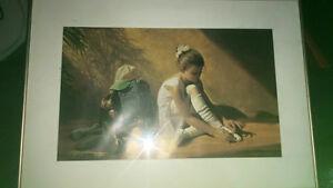 Denim and lace Greg Olsen framed & signed  Edmonton Edmonton Area image 1