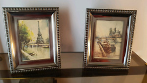 Two matching 6x4 Pewter Photo Frames