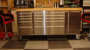 STAINLESS STEEL TOOL CABINET - KITCHEN ISLAND