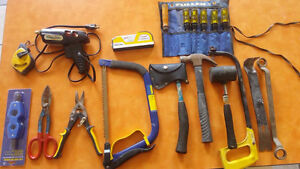 A bunch of tools for sale