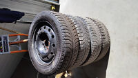 Set of 4 205/50R16 Michelin Winter X-Ice Tires and Rims