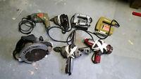 Lot d'outils électrique, Impact et drill Vintage,Meilleur Offre!