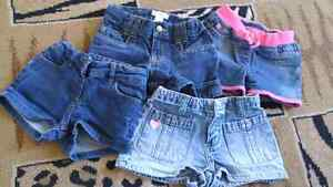 (sold ppu) 4 pairs size 5 girls jean shorts