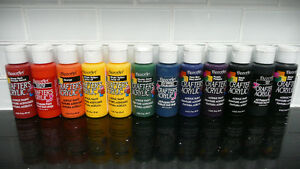 12 bottles of CRAFTER'S ACRYLIC PAINT  59ml bottles!!