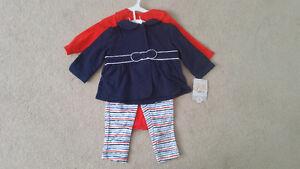 Brand NEW Carter's 3-Piece Jacker  Sets, Dress Set ($10 each)