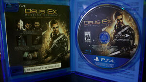 Day One Edition Deus Ex Mankind Divided - PS4! Great condition! Cambridge Kitchener Area image 1
