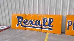 Vintage porcelain rexall sign. London Ontario image 1