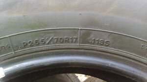 2 truck tires Good Year P265/70R17 $80both 60%left