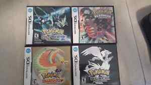 Pokemon Platinum+Heart Gold+Black+Black 2 english BUNDLE