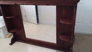 'All Wood' -Mirror unit for Dresser Peterborough Peterborough Area image 1