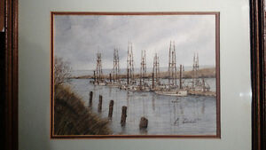 Fine Watercolour signed Lukashuk North Shore Greater Vancouver Area image 1