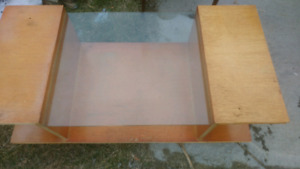 Free solid wood end table coffee table and lamp