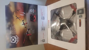 Drone with camera and memory card