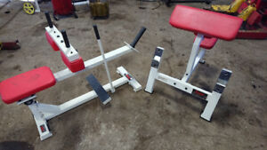 York barbell USA Commercial Calf raise Arm Curl
