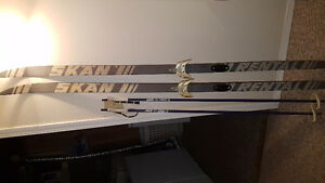 Cross country skiis and poles